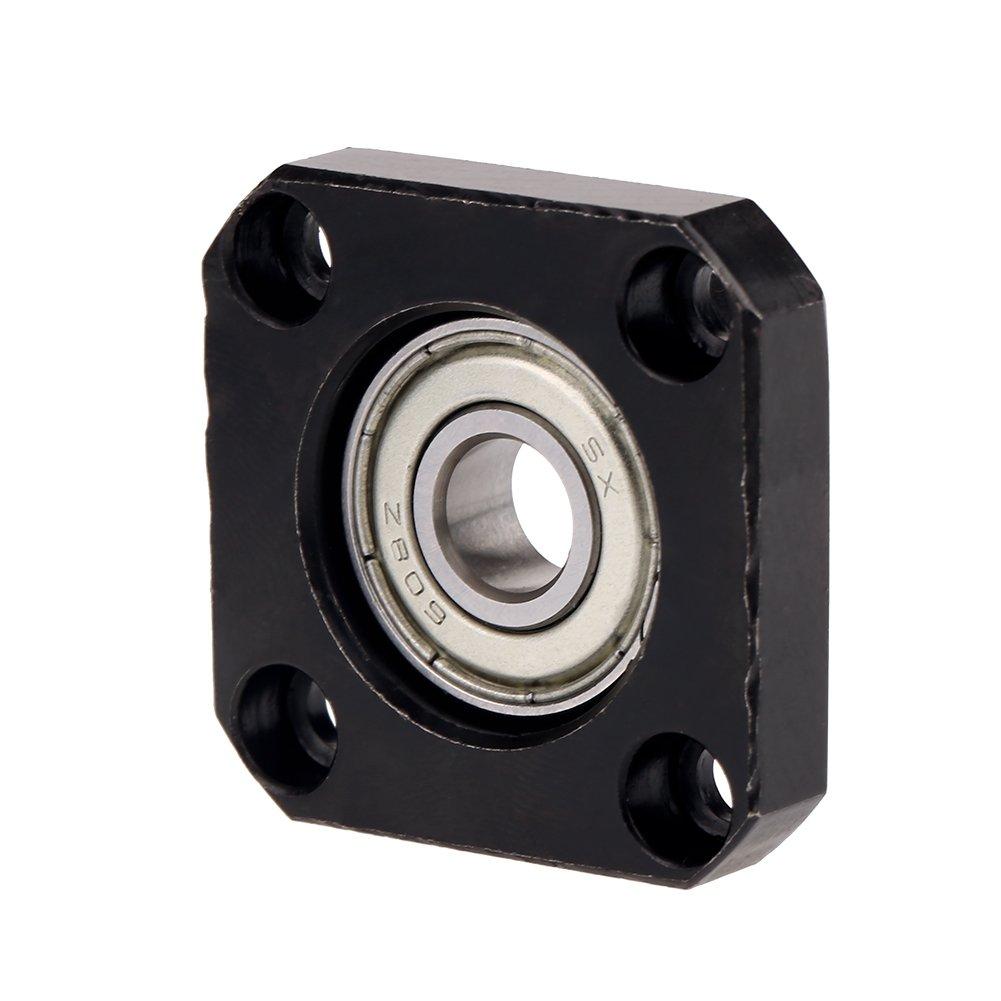 1 juego de soportes de lado lateral fijo flotante Tornillos Soportes de la carcasa del cojinete para bola de di/ámetro 10 mm Juego de soportes de cojinetes