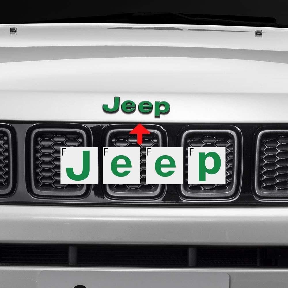 Emblem Do it Yourself Aufkleber Set Personalisieren Sie Ihren Jeep IPG f/ür Jeep Compass MP 2017-2020 Emblem Overlay Aufkleber