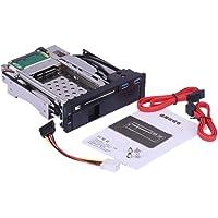 "KKmoon Doppia Baia 3.5 ""/2.5"" Pollici SATA III Hard Drive HDD e SSD Vassoio Caddy Interna Mobile Rack Recinzione Docking Station con USB 3.0 Porta Caldo Swap"
