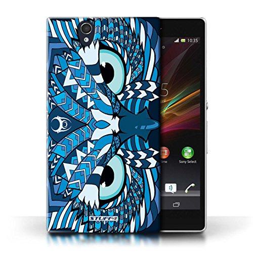 Etui / Coque pour Sony Xperia Z / Hibou-Bleu conception / Collection de Motif Animaux Aztec