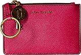 Marc Jacobs Women's Metallic Saffiano Top Zip Multi Wallet Pink One Size