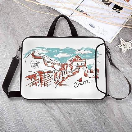0f42428b234e Amazon.com: Great Wall of China Large Capacity Neoprene Laptop Bag ...
