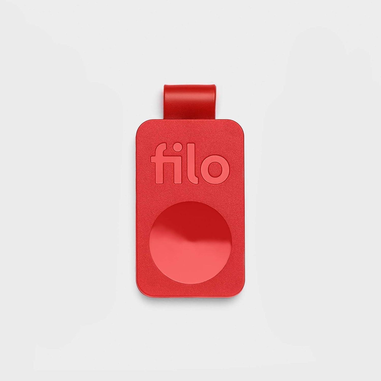 FiloTag, Localizador de Objetos | Tracker Bluetooth Made in Italy | Encuentra lo Que has perdido | Tamaños: 25 x 41 x 5 mm. Nueva Serie Julio 2019 | Pack de 1, Rojo