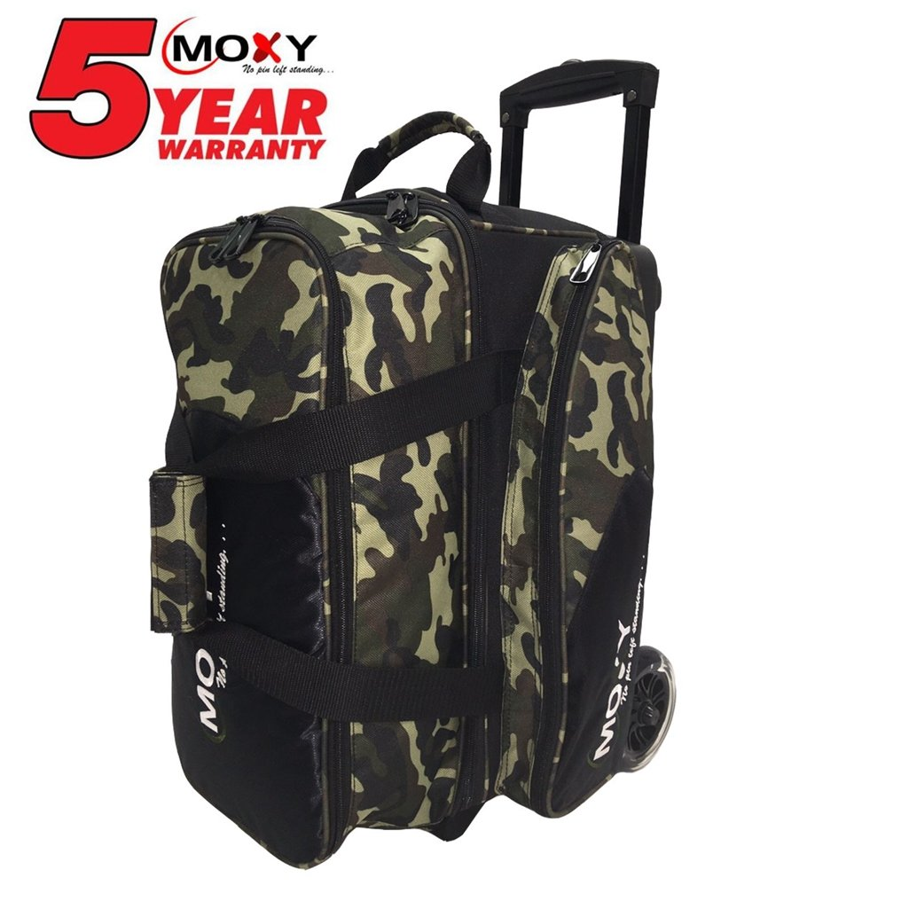 Moxy Bowling Products Blade Premium Double Roller Bowling Bag- Camouflage