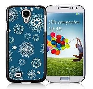 Customization Samsung S4 TPU Protective Skin Cover Christmas Snowflake Black Samsung Galaxy S4 i9500 Case 10