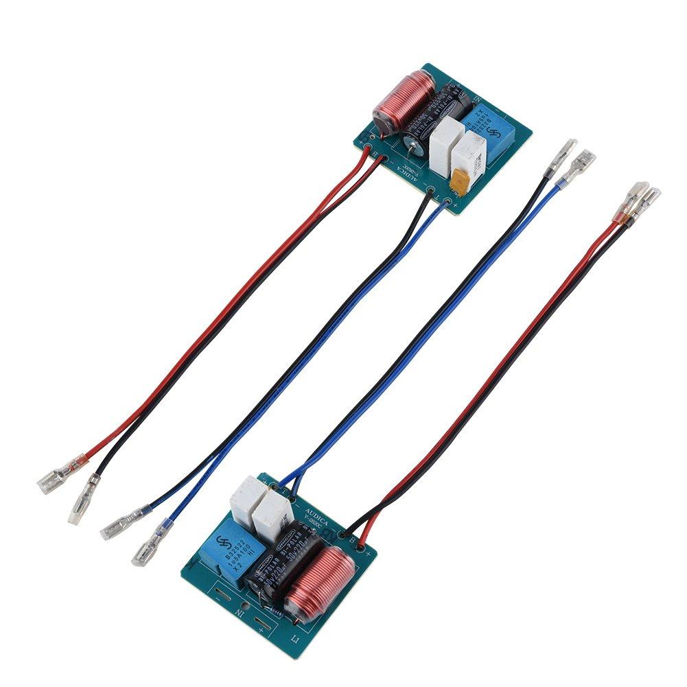 2 Wege Hi-Fi Audio Crossover Sound Filter Frequenz Verteiler VBESTLIFE 2 St/ücke Lautsprecher Frequenz Teiler Bord Hocht/öner Bass