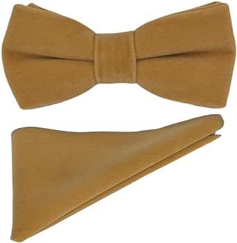 Tawny Brown Velvet Bow Tie