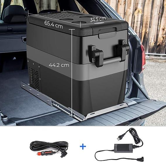 ISSYZONE Nevera portátil 42 litros compresor eléctrico con ...