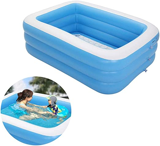 TWOBEE Piscina Hinchable Familiar, 59 x 43.3 x 19.6 Pulgadas ...