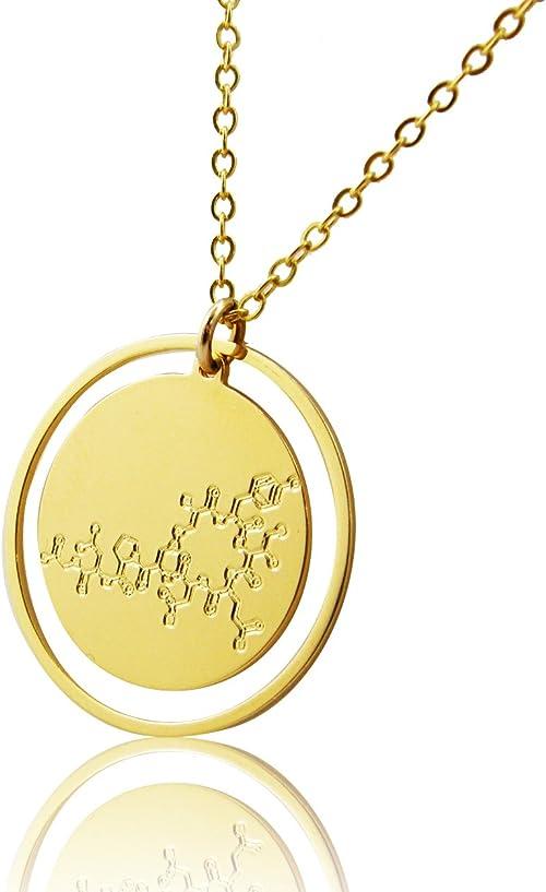 Oxytocin molecule necklace chemistry jewelry 14K Gold Filled necklace