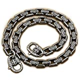14'' ~ 36'' 316L Stainless Steel Mens Biker Punk Wallet Chain 5A020WC Claps 3P6 (End to End 28 Inches)