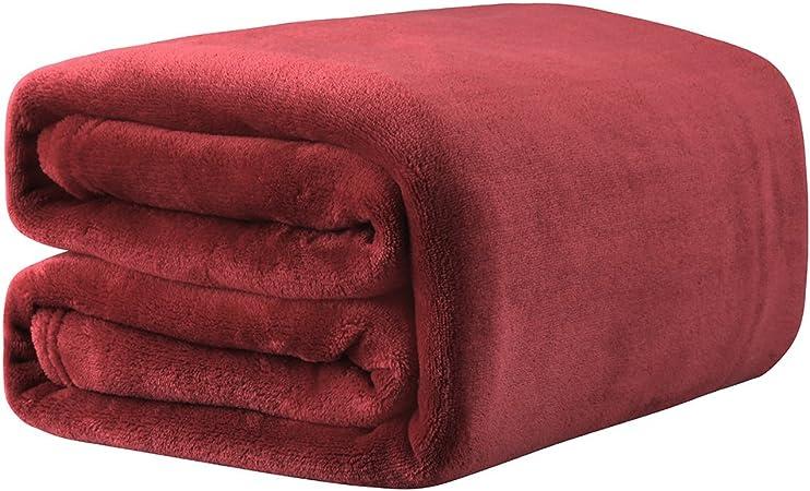Bordeaux LANGRIA Couverture Plaid Sofa et Lit en Microfibre de Polyester Chaude Souple Entretien Facile /à la Machine 150x200cm Ne perd pas sa Couleur Douce au Toucher