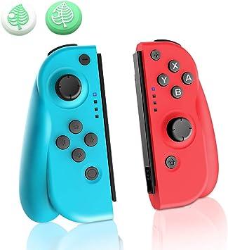 JOYSKY Mando Inalámbrico para Nintendo Switch, Set de 2 Joy con de Repuesto Izquiero y Derecho Inalámbricos Bluetooth Gamepad Joystick Mando (L) Azul/ (R) Rojo: Amazon.es: Electrónica