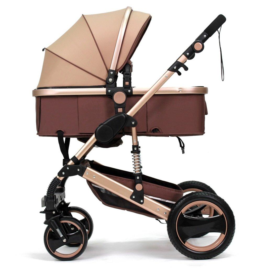 venta mundialmente famosa en línea QWM-Las QWM-Las QWM-Las bicicletas infantiles para bebés Carrito de bebé recién nacido plegable puede sentarse y acostarse amortiguar el carrito de bebé para 1 mes -3 años de edad de dos vías cuatro ruedas Evite sacudir carrito d  más descuento