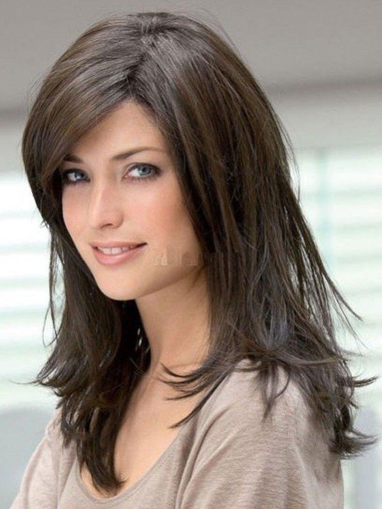 Amazon.com : 100% Real Hair! Long Straight Wig Natural Dark brown Human Hair Wigs : Beauty