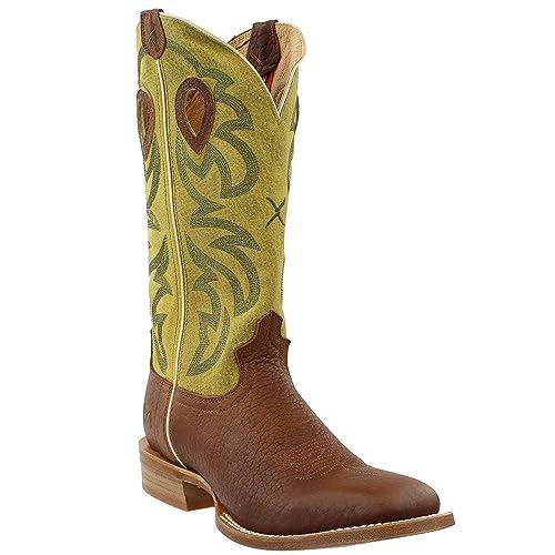 bdaa7388a3c Amazon.com | Twisted X Men's Ruff Stock Cowboy Boot Square Toe ...