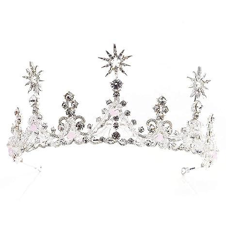 Women Tiaras Headwear Wedding Bridal Bridesmaid Crystal Crown Hair Headband UK