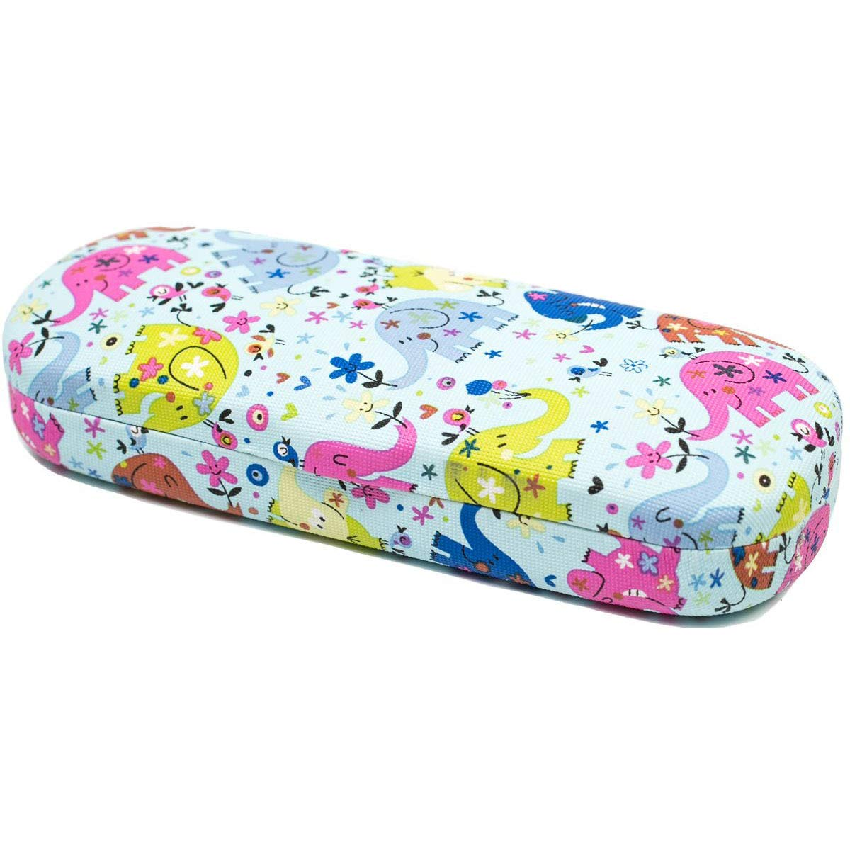 Handmade Russian Glasses case for a boy, blue with a color print, on a solid basis, covered with artificial leather by RuPost