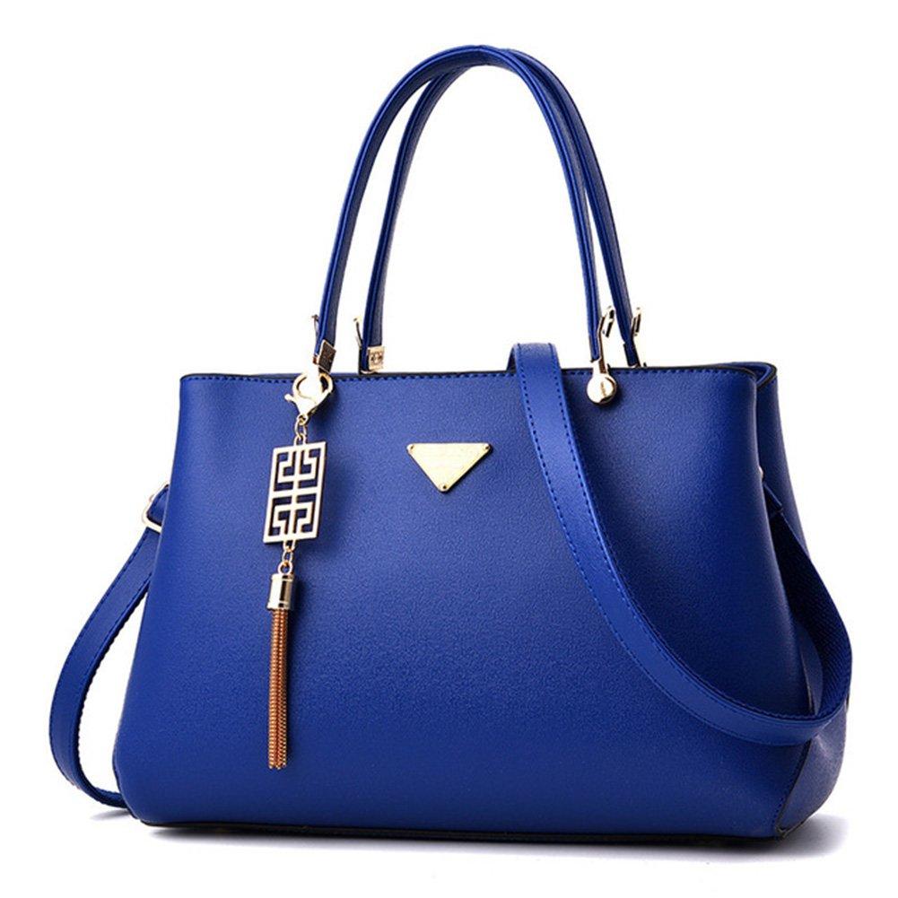 Dark bluee Handbags for Women,Tassel Metal Sequins Crossbody Shoulder Bag Tote Bag Satchel