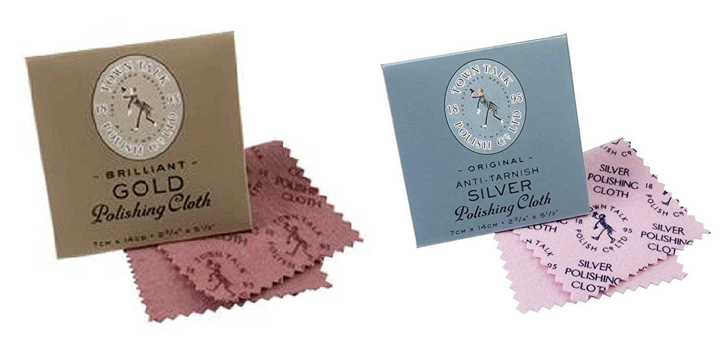 Town Talk Gold & Silver 7x14cm Polishing Cloth