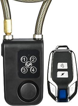 Alarma Cerradura de bicicleta, Control remoto Cerradura de alarma ...