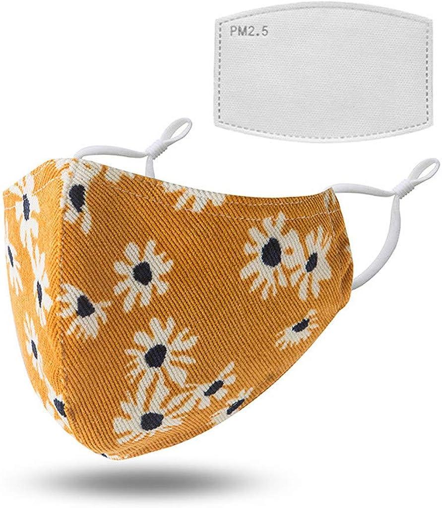 OUICE Adult Print Dustproof Haze Washable Cotton washcloth+Gasket