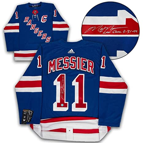 outlet store 3c715 8dd4a Mark Messier Signed Jersey - Adidas Last Game Note ...