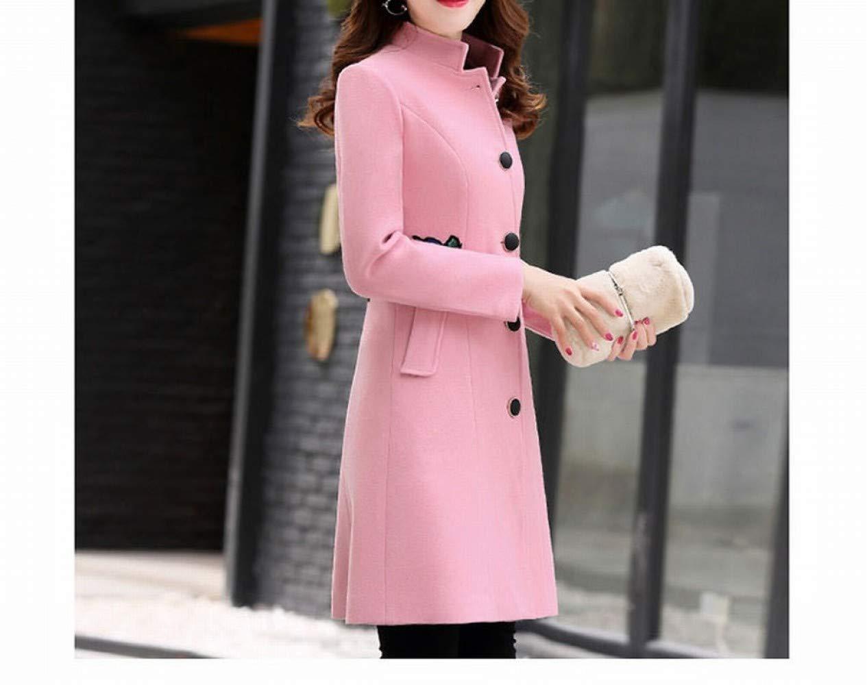 Amazon.com : PLLP Coat Jacket, Woolen Coat, Woolen Coat, Female Mid-Length Autumn and Winter Bride Wedding Back Door, Serving Female Red Woolen Coat ...