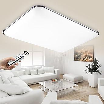 Natsen® LED Deckenlampe Modern Wandlampe Wohnzimmer Silber 36W voll ...