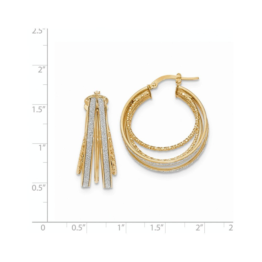 Mia Diamonds 14k White Gold 2mm Round Hoop Earrings