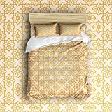 Beauty Decor Bedding 4 Piece bed Set Duvet Cover,Geometric pattern 4 Piece Bed Sheet Set 1 Flat Sheet 1 Fitted Sheet and 18 Pillow Cases