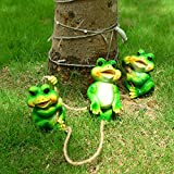 Cheap Frog Garden Decor Statue Outdoor Lawn Ornaments and Figurines – Frolicking Frogs Hanging Yard Art Sculpture Decorative – Set of 3