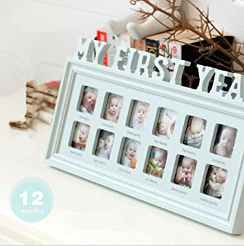Amazon.com - DONGJIE My First Year 12 Month Baby Picture Photo Frame ...