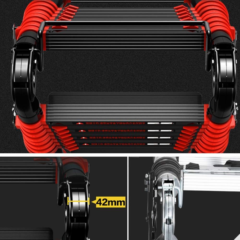 Color : 1.7+1.7=straight 3.4m 3.4-8.2M Escalera Telesc/ópica Escalera Telesc/ópica de Aluminio Tall Multi Prop/ósito Pesado M/áx. DD Escalera de Espiga
