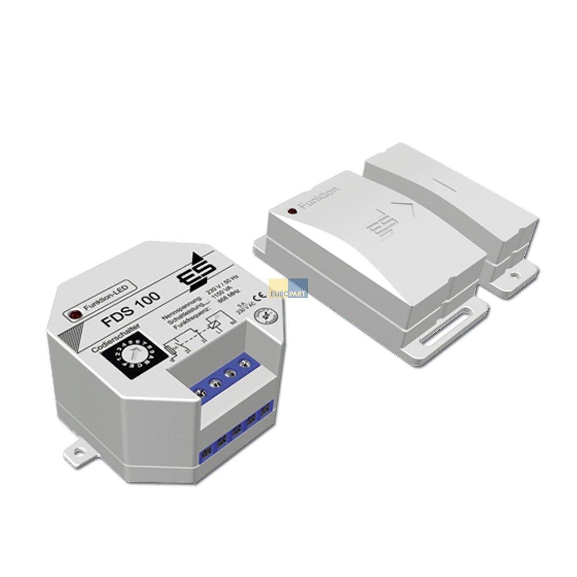 Zuluftfensterschaltung FDS100 Funkü berwachungssystem Sicherheitsabluftsteuerung Dunstabzugshaube Alternativ