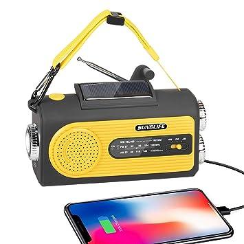 Amazon.com: Sunglife - Radio solar para emergencias con ...