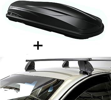 Vdp Dachbox Cube470 470 Liter Schwarz Glänzend Dachträger K1 Medium Kompatibel Mit Seat Leon Ii 1p 4türer 09 13 Auto