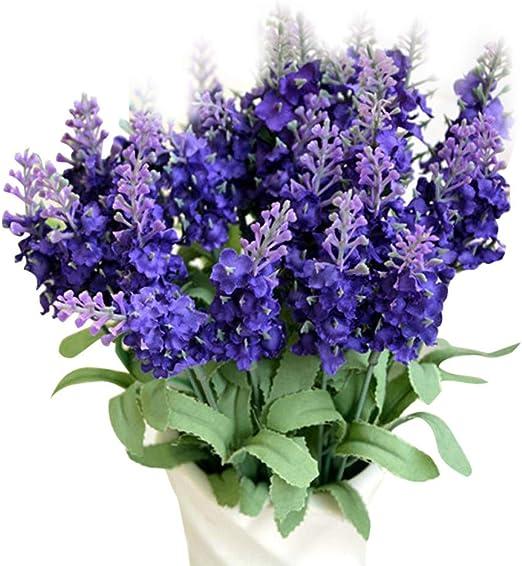 Artificial Purple Heather Bush Artificial Flowers Artificial Leaves Silk Flowers