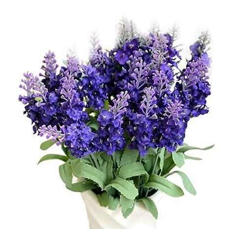 MIRRAY Flor Artificial Falsa Bush Bouquet Home Wedding Decor Azul Oscuro