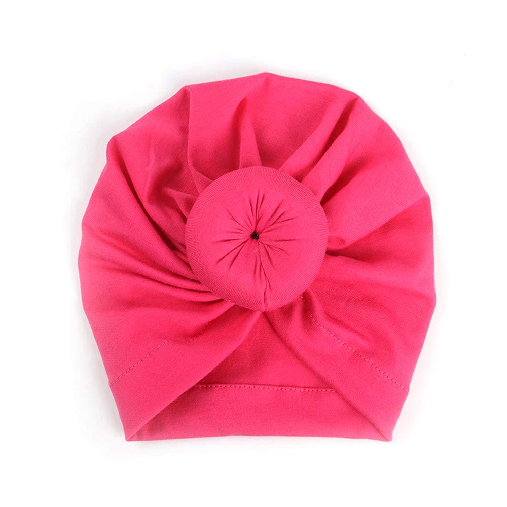 YYCOOL Sombrero Turbante para beb/é con Lazo Mezcla de algod/ón para reci/én Nacidos con Nudo Superior de Donut