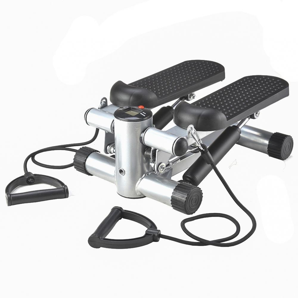Bestmassage Aerobic Fitness Adjustable Twister Stepper w/ Rope, Mini Stepper Machine