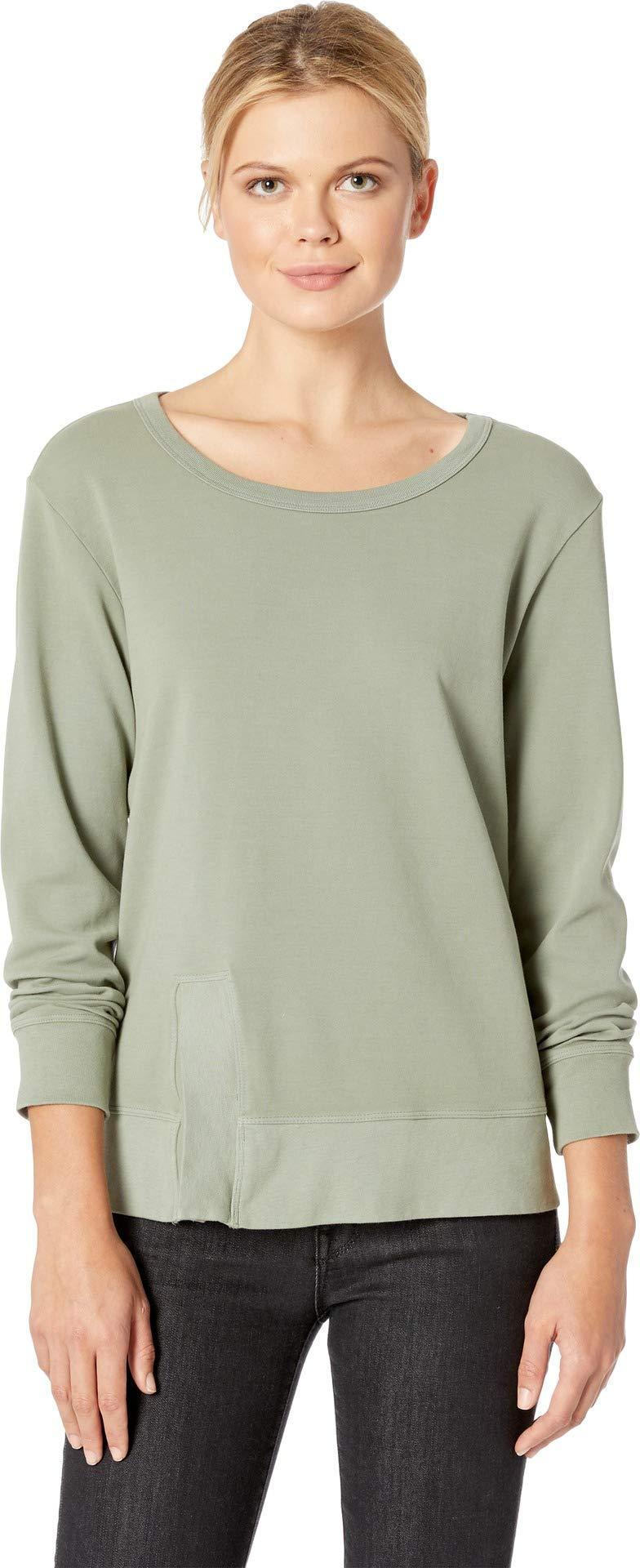 Mod-O-Doc Women's Cotton Interlock Sweatshirt with Asymmetrical Front Slit