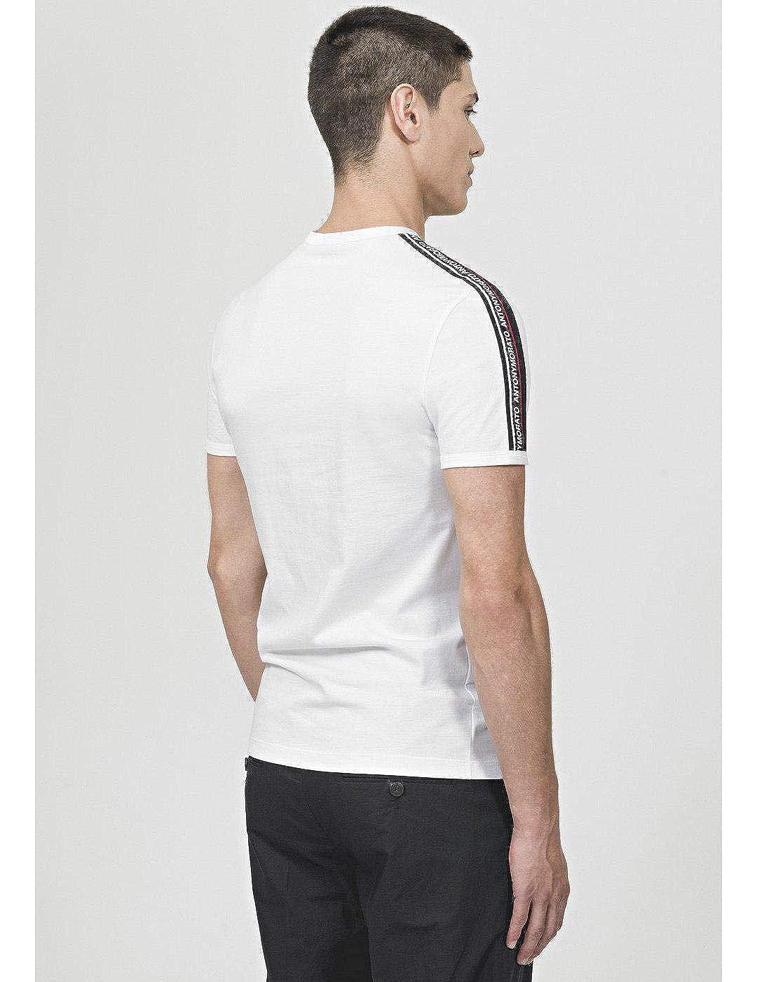 Antony Morato Camiseta Nastro Logato Blanco Hombre: Amazon.es ...