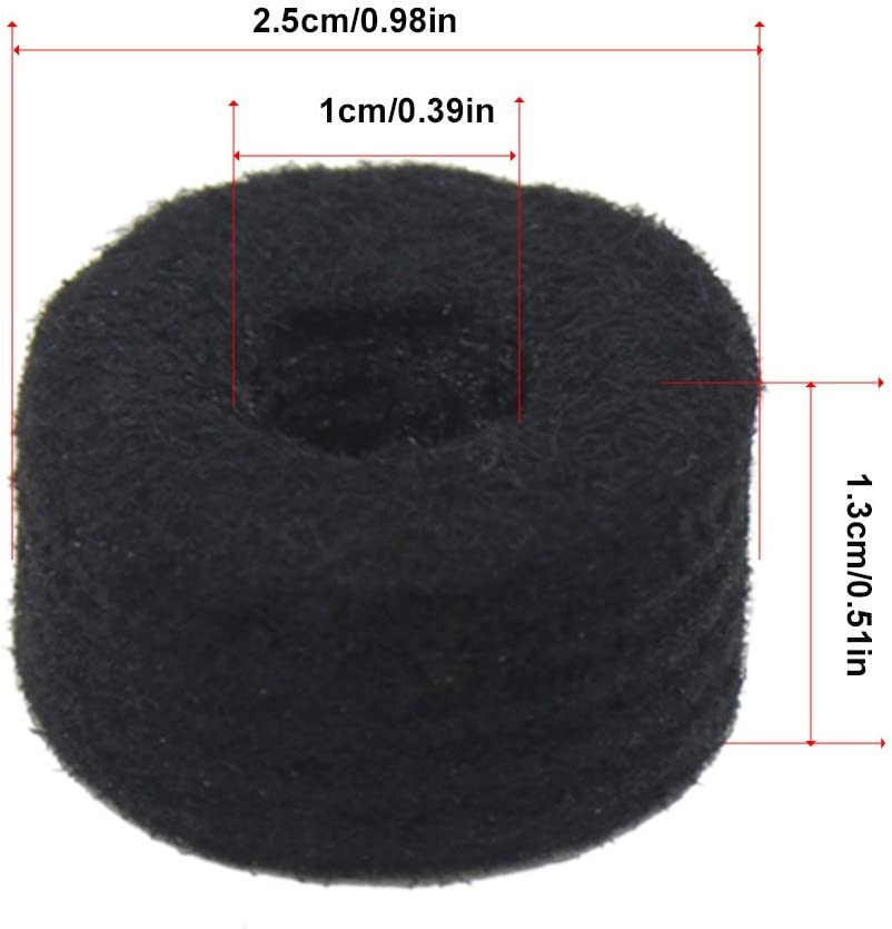 Cymbal Felts6 PackThick Felt WashersCymbal ProtectionThe Drum Booth