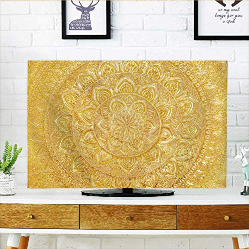 Price comparison product image Philiphome Cover for Wall Mount tv Engraved g Metal Oriental texturebackground Cover Mount tv W30 x H50 INCH/TV 52""