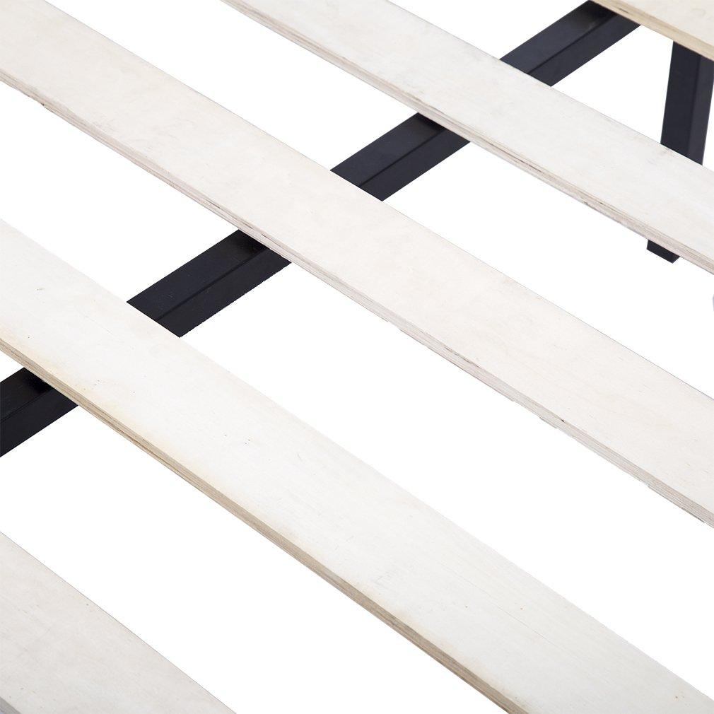 Bed Frame Metal Platform Bed Frame 14 Inch Heavy Duty Wood Slat Steel Frame Twin Size by BestMassage (Image #6)