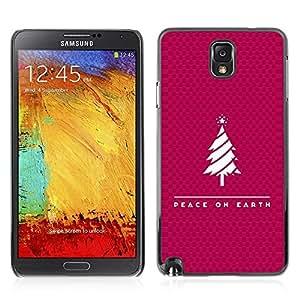 Be Good Phone Accessory // Dura Cáscara cubierta Protectora Caso Carcasa Funda de Protección para Samsung Note 3 N9000 N9002 N9005 // BIBLE Peace On Earth