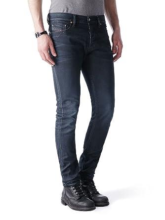 f8051213 Diesel Tepphar 0666T_Stretch Men's Jeans Trousers Slim Carrot (W26/L30, Blue )
