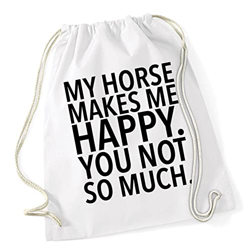 Certified Freak My Horse Makes me Happy - You Not Borsa De Gym Bianco e8411df56eb