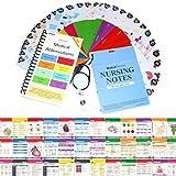 "Nursing Notes 60 High Yield Pocket Nursing Reference Cards, Durable Plastic (3.5"" x 5"") - MedSurg, ICU/Critical Care, Pharmacology, OB/Peds - with Bonus Medical Abbreviation Booklet"